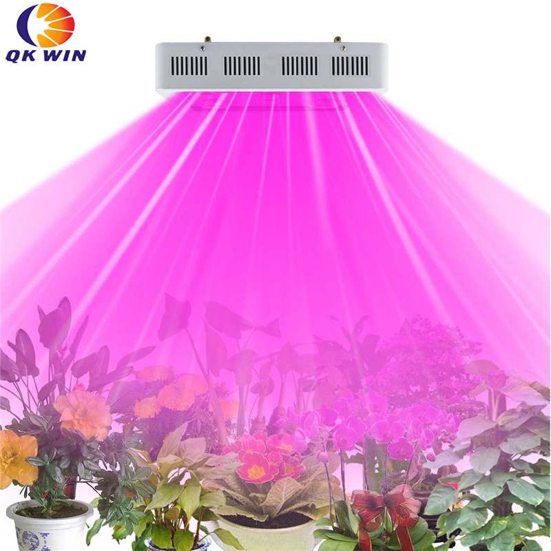 Купить с кэшбэком Hot sale Qkwin 1000W Led grow light 100x10W high power double chip led hydroponics lighting system full spectrum