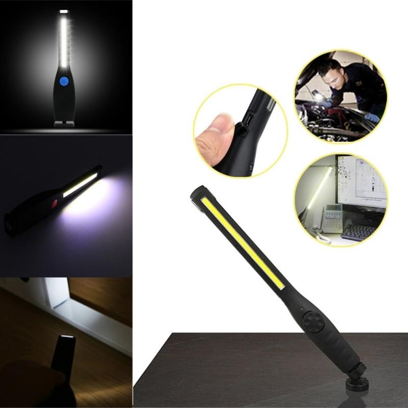 New 410 Lumen Rechargeable COB LED Slim Work Light Fixed Base Professional Battery included Super Bright Handheld Drop Shipping