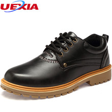 UEXIA Big Size Men Shoes Fashion Casual Work & Safety Shoes Luxury Male Shoes Designer Flats Working Lace-up Casual Breathable