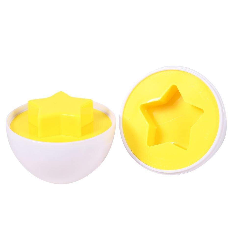 6 пар/уп. детские игрушки образования дети познавательной мудрый Моделирование Яйца обучения и развития различных Форма Притворись Puzzle сма...