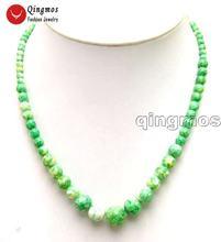 Qingmos натуральное ожерелье Агаты для женщин с 4 12 мм круглый