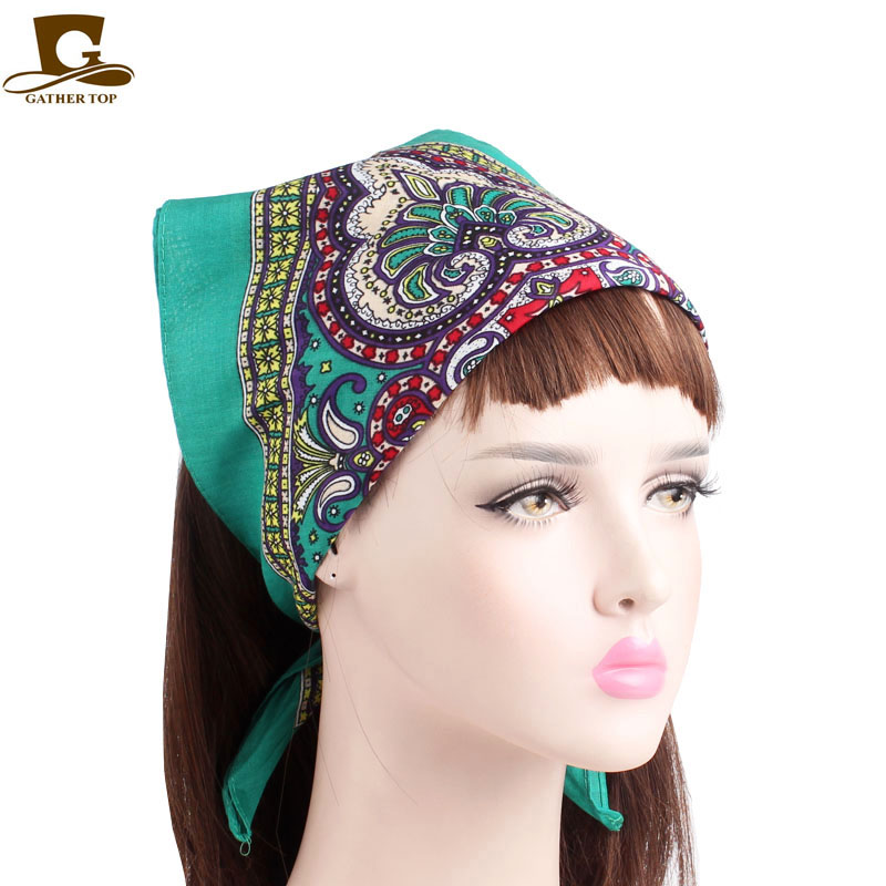 Bandana Headwrap Turquoise 100/% Cotton Great for Yoga and Exercise