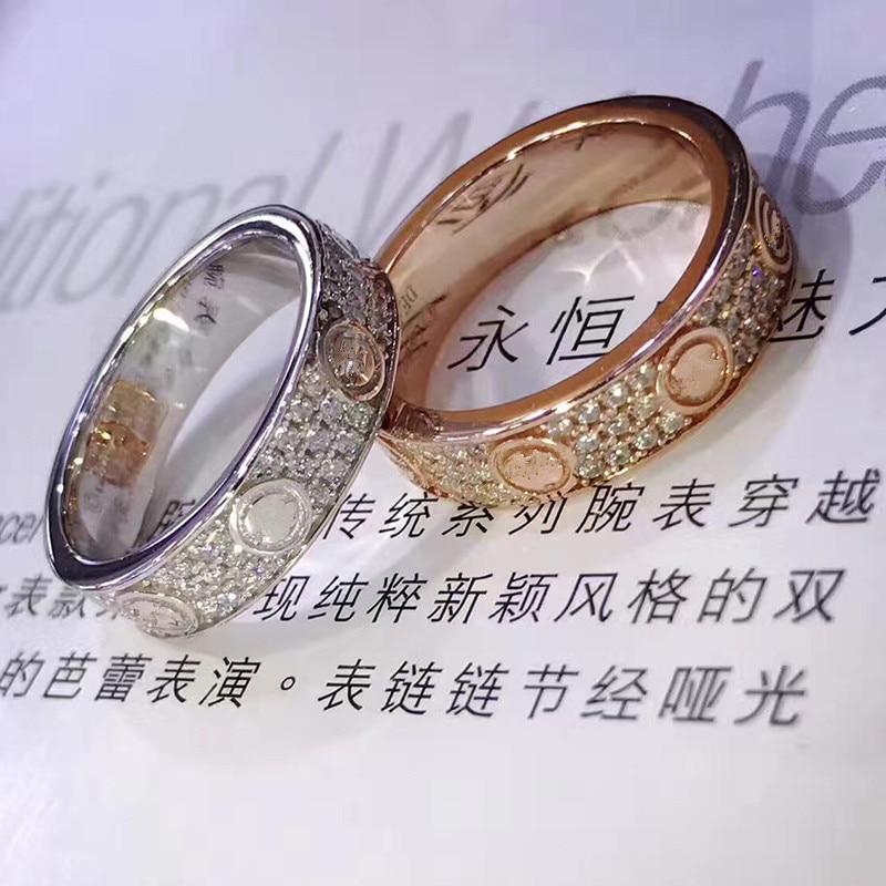 Titanium Steel LOVE eternal ring Brand carte Fashion love Jewelry For Women Unisex Ring Wedding Rings Classic Gradient Jewelry цена 2017