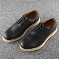 JOYA in classic square Oxford shoes surging light head layer cowhide square flat head England shoes