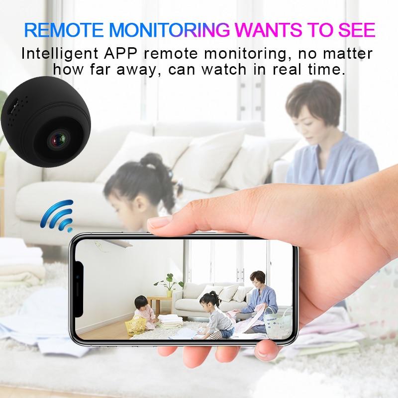 V1 Wifi IP Mini Camera Full HD 1080P Secret Camera Infrared Night Vision Wireless APP Remote