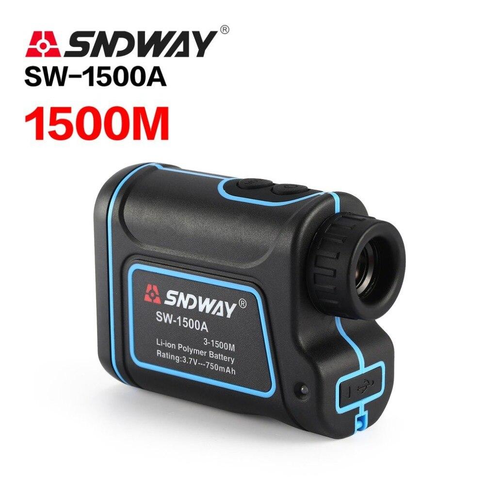 SNDWAY Telescópio Monocular Telêmetro Laser 1500 m Trena SW-1500A Caça laser Range Finder Medidor de Distância A Laser de Golfe
