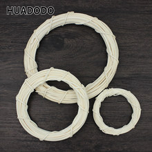 HUADODO 10cm/20cm Rattan Ring Artificial flowers Garland Dried flower frame For Home Christmas Decoration DIY floral Wreaths(China)