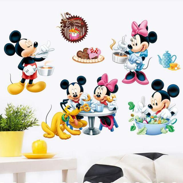 Mickey Mouse Children S Furniture Wall Stickers For Kids Rooms Decals Vinyl Tree Border Tiles Bathrooms