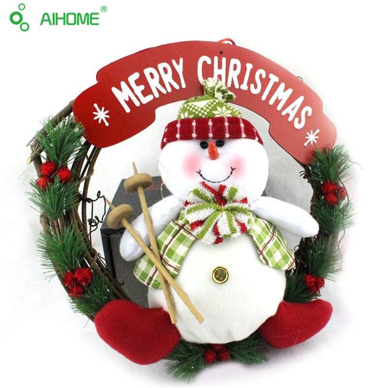 1 unids guirnalda de navidad de lujo feliz decoraciones de navidad puertas y ventanas decoracin de
