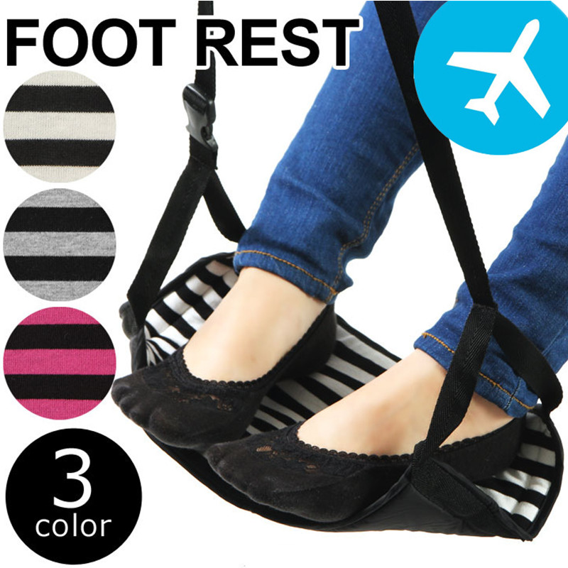 ARRIES Portable Stripe Cotton Foot Hammock Aircraft Feet Rest Stand Carry-on Soft And Durable elegant colorful stripe bohemia soft cotton towel