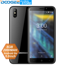 2018 New DOOGEE X50 mobile phone Android Go MTK6580M Quad-Core 1GB RAM 8GB ROM Dual Cameras 5.0inch 2000mAh Dual SIM Smartphone
