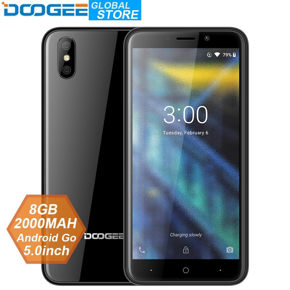 2018 New DOOGEE X50 mobile phone Android Go MTK6580M Quad-Core 1GB RAM 8GB ROM Dual Cameras 5.0inch 2000mAh Dual SIM Smartphone