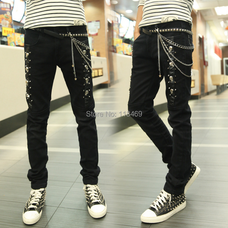 Popular Black Chain Pants-Buy Cheap Black Chain Pants lots from ...
