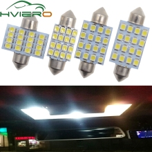 10X 3528 1210 White 16LED Led Dome Festoon Door Light Reading Bulb 31mm 36mm 39mm 41mm Auto Roof Tail Lamp Trunk light DC12V