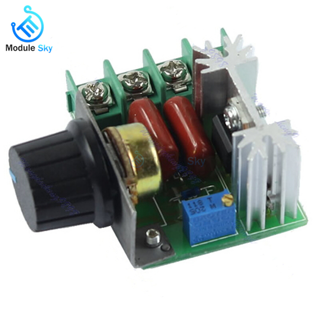 US $1 64 17% OFF|220V 2000W Speed Controller SCR Voltage Regulator Dimming  Dimmers Thermostat Motor Controller for Arduino-in Replacement Parts &