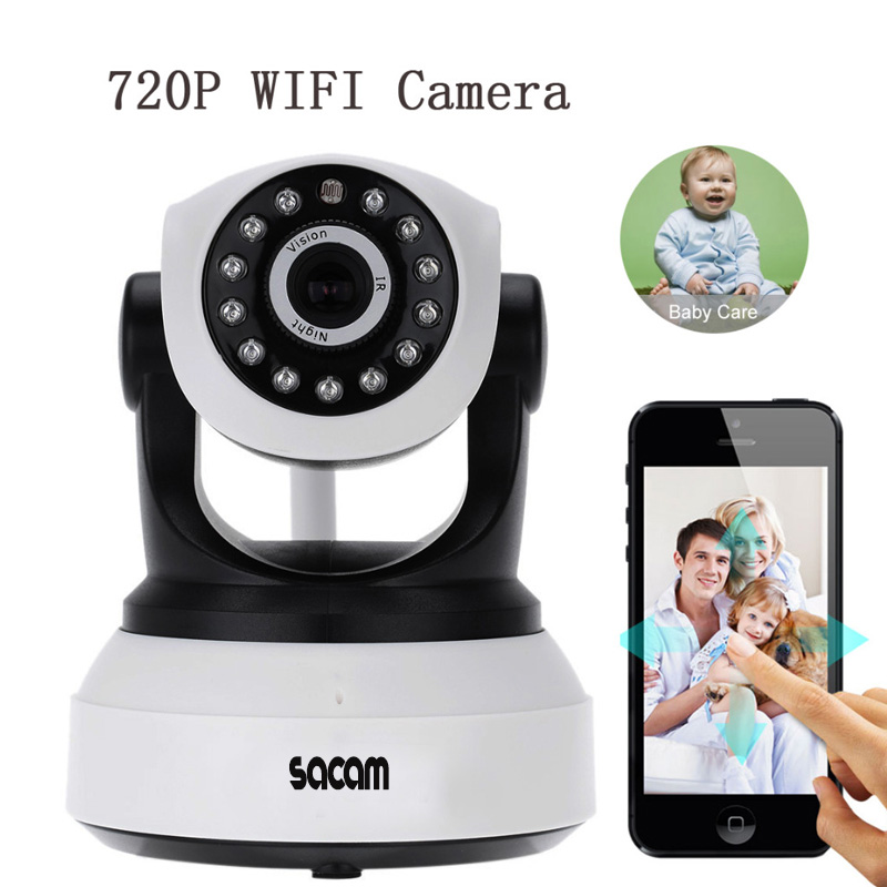 Sacam Wireless IP Camera Baby Monitor 720p Smart Home Security Video Surveillance Network CCTV Two way Audio TF Card App. Eye4 hot 720p hd clever dog network wireless mini ip camera security video surveillance wifi baby monitor two way audio support card