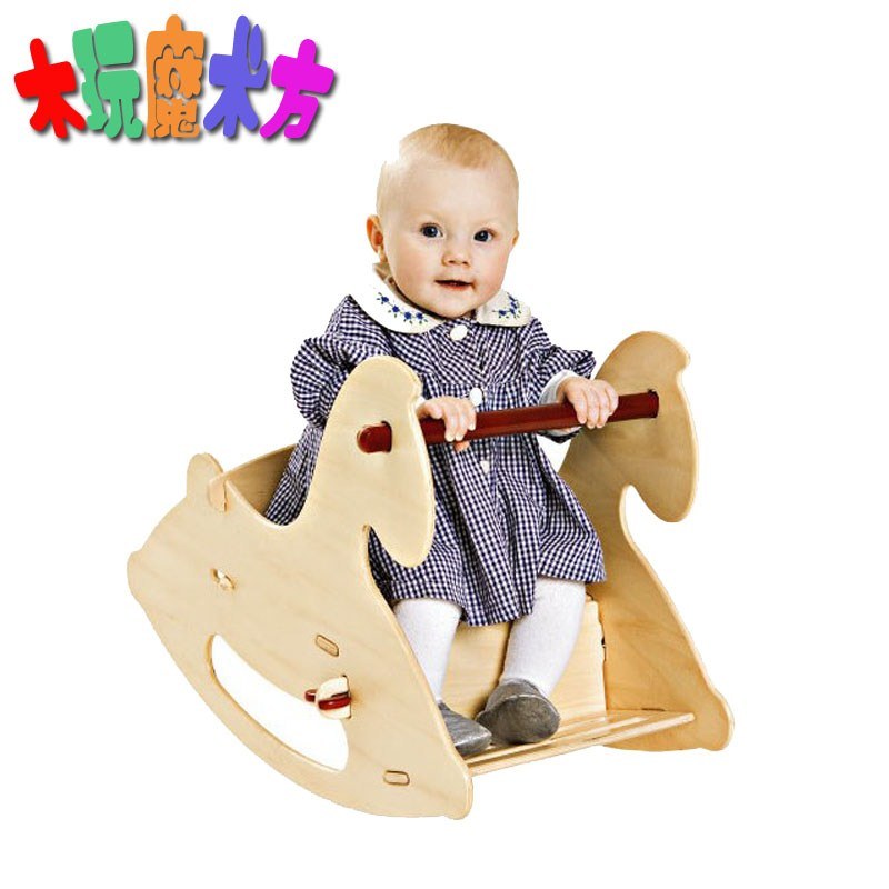 Free Shipping Child Wool Rocking Horse Baby Rocking Horse Infant Rocking  Chair Rocking Horse Wooden Horse Toy Fedex In Ride On Animal Toys From Toys  ...