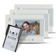 """7 """" TFT con conexión de cable timbre Video portero puerta de vídeo de seguridad cámara de infrarrojos 1V3"""