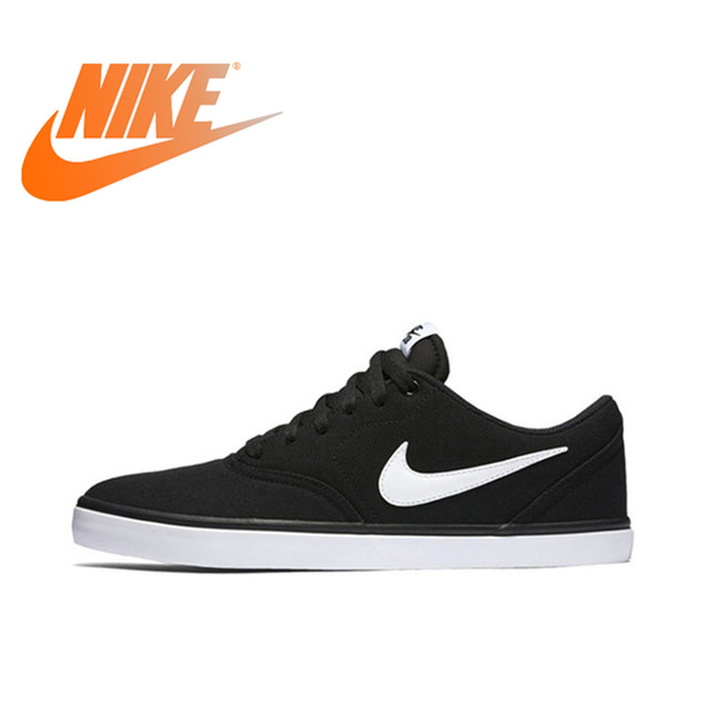 Original Authentic Nike SB CHECK SOLAR CNVS Aqua Mostro Men Skateboarding Shoes Comfortable Breathable Light Weight Flat 843896