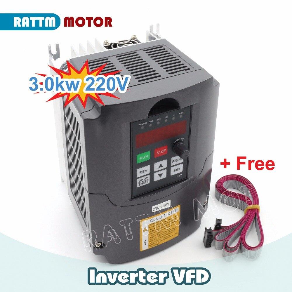 Доставка по ЕС! 3 кВт VFD переменная частота 220 В Привод VFD инвертор 4 hp выход 3 фазы 13A