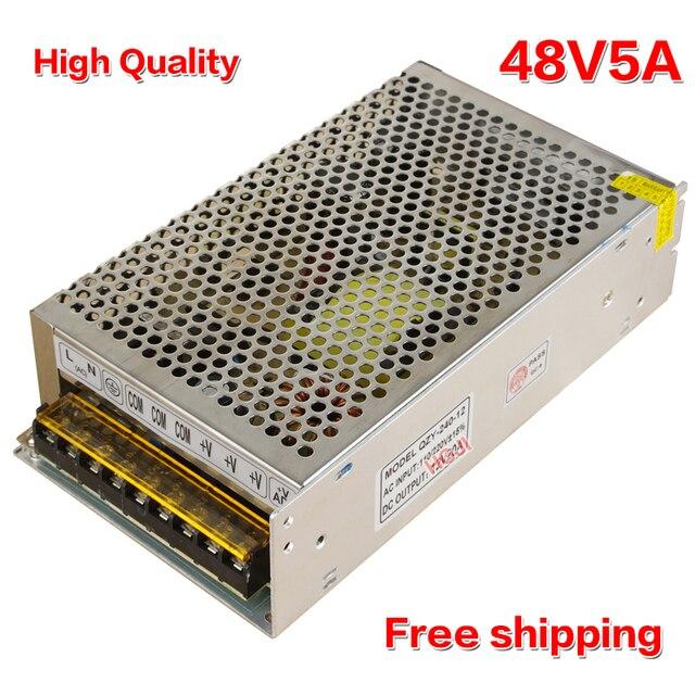 Haute qualité 48V5A 240 w AC110V/220 v à DC 48V240w LED Alimentation à découpage pour la lumière led DC48v5A livraison gratuite