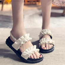 BJYL 2019 Summer New Fashion Shoes Women Open-toed Leisure Sandals Comfortable Platform Outdoor Work Size 35-40 B168