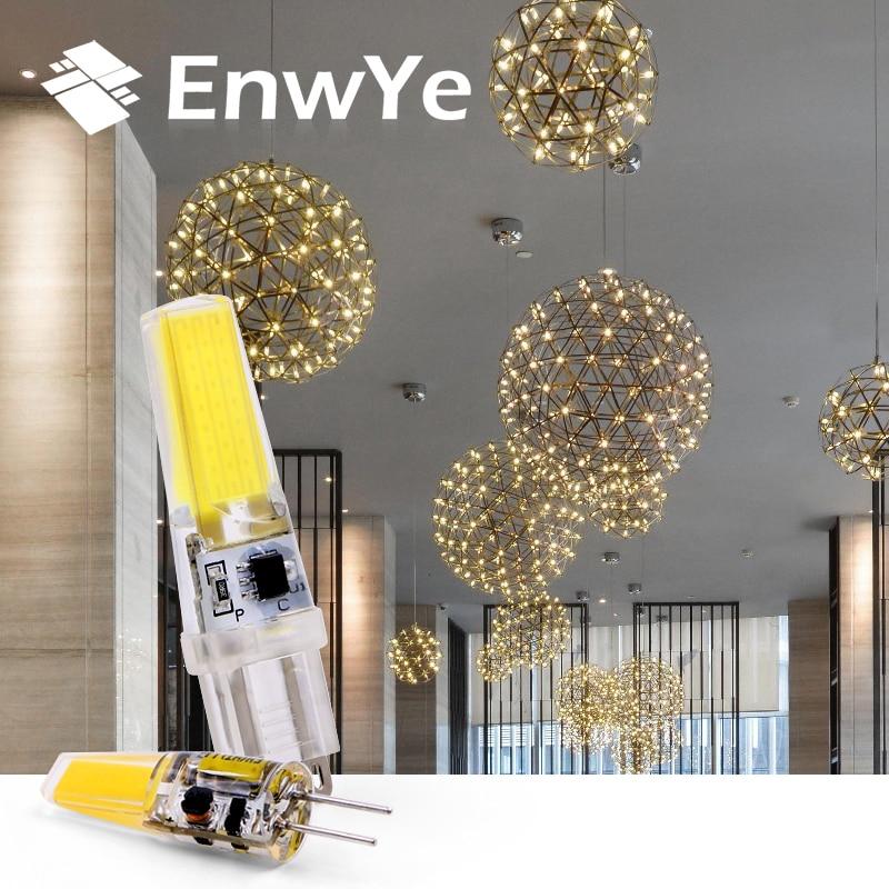 EnwYe LED G4 G9 Lamp Bulb AC / DC 12V 220V 3W 6W COB SMD LED Lighting Lights replace Halogen Spotlight Chandelier брелок taya цвет серебристый синий t b 13284