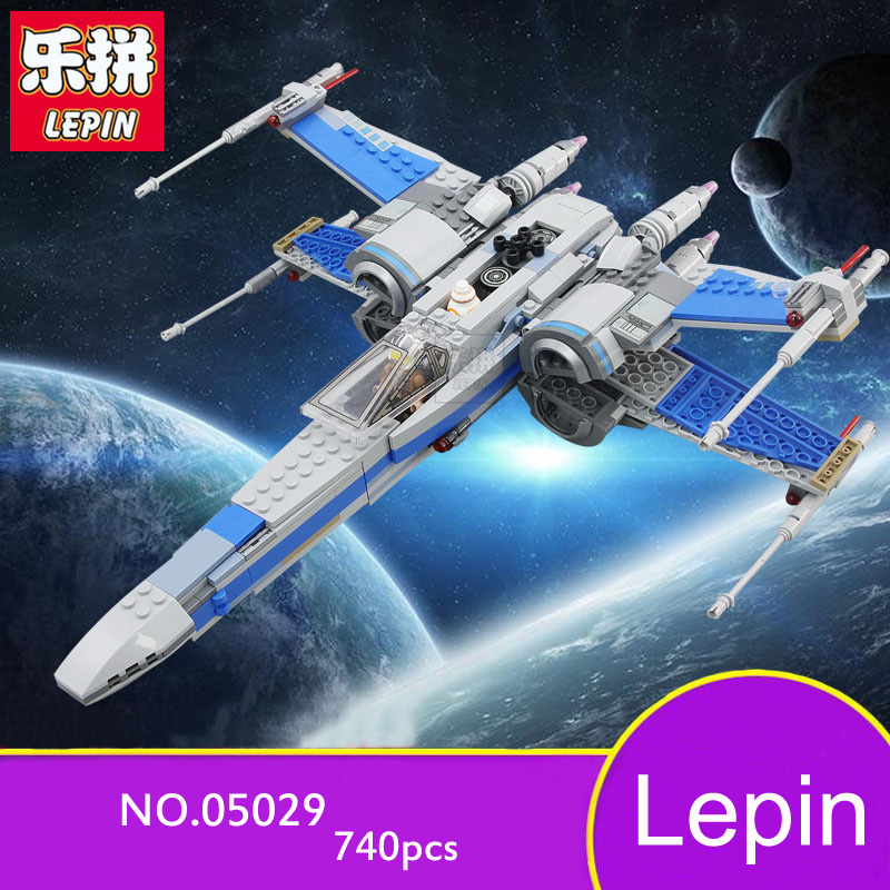 Lepin Star War Series Building Blocks X-wing Fighter Model 748pcs Bricks Toys Education Children Gifts Compatible 05004 05029 lego education 9689 простые механизмы