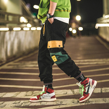 2018 Autumn Recommend new listing Fashion Leisure Night Scene pantalon Original Overalls Black hip hop Pants The Loose M-3XL
