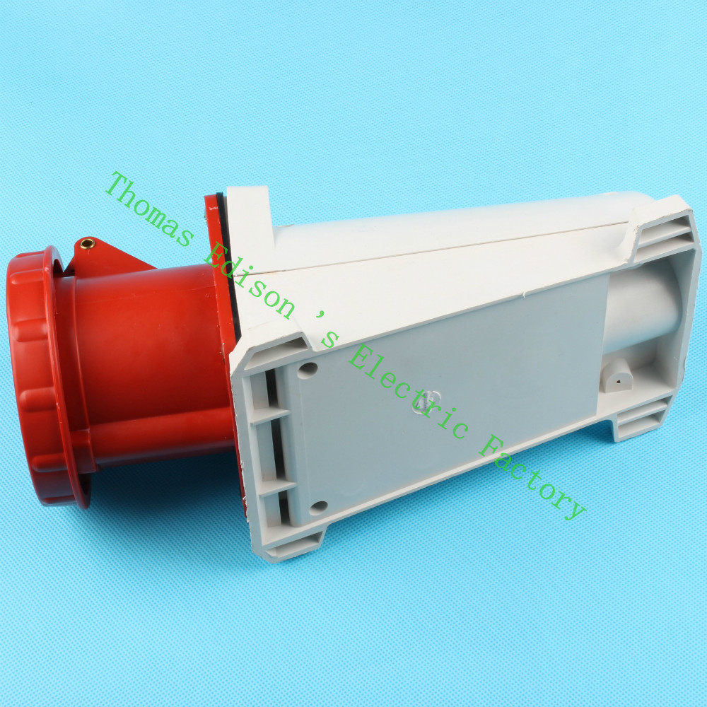 Industrial Socket Plug Coupler 135 CNQD-135 Red 63A 220V~415V 3P+E+N 5pin 10PCS/carton high quality ac 360 415v 16a ie 0140 4p e free hanging industrial plug red white