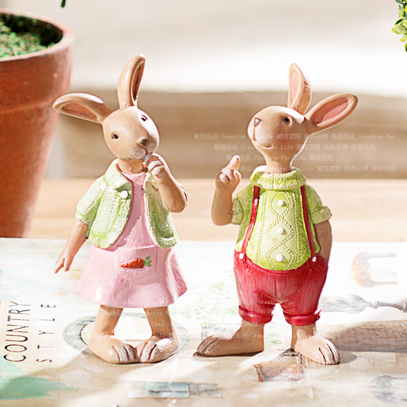Odd Ranks Yield Gifts Home Decor Cute Adorable Bunny Room Resin Ornaments Candy Department S J In Figurines Miniatures From Garden On