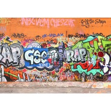 Laeacco Graffiti Wall Comic Boy Children Photography Background Customized Photographic Backdrops For Photo Studio 100% hand painted pro dyed muslin backdrops for photography studio customized photographic background wedding backdrops 10x10ft