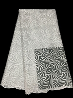 Latest Design White Color Cheap Price Good Quality Noble French Lace Fabric Most Beautiful Clothing Meterial