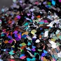 200 g/zak Kleurrijke Eenhoorn Nail Pailletten 2mm Ruit Nail Vlokken Glitter Pailetten UV Gel Polish Nail Tips Nail Accessoires