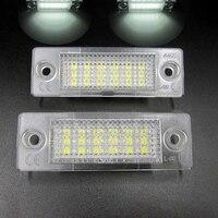 2pcs Set 12V 18 LED Car License Plate Light No Error Auto Number Plate White Lamp