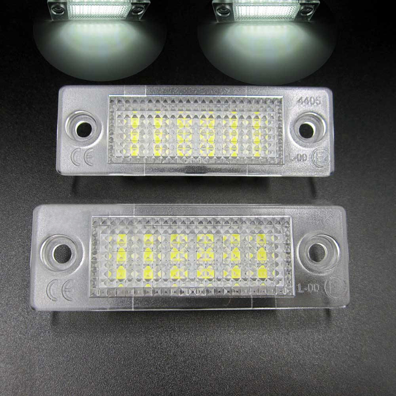 2pcs/set 12V 18 LED Car License Plate Light No Error Auto Number Plate White Lamp For VW Volkswagen Golf Jetta Caddy Touran T5 simulation mini golf course display toy set with golf club ball flag