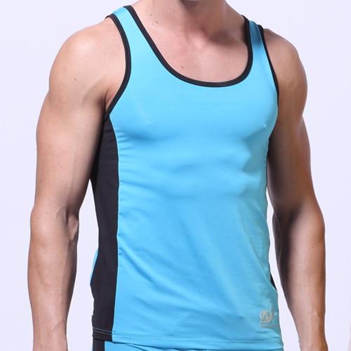 d32b61d65d300 New Mens Men s Mesh Tank Tops Round Neck Sleeveless Spaghetti Strap Muscle  Milk Lace Running Undershirt Summer T-Shirt Vest Top
