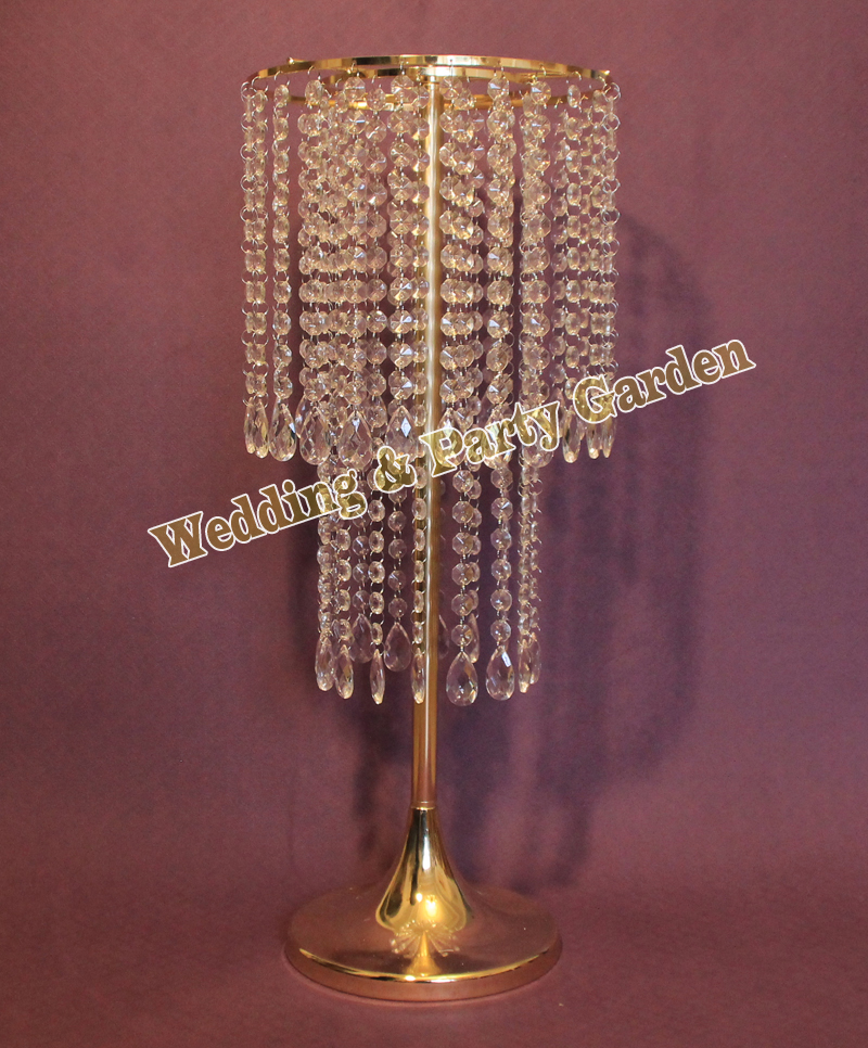 62cm 24 4 h wedding acrylic crystal table flower stand for Chandelier table decorations