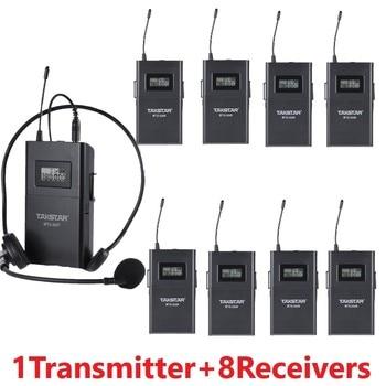 Takstar wtg-500 UHF Wireless audio system for Tourist guide/Simultaneous interpretation/Teaching 1 Transmitter+8 Receivers