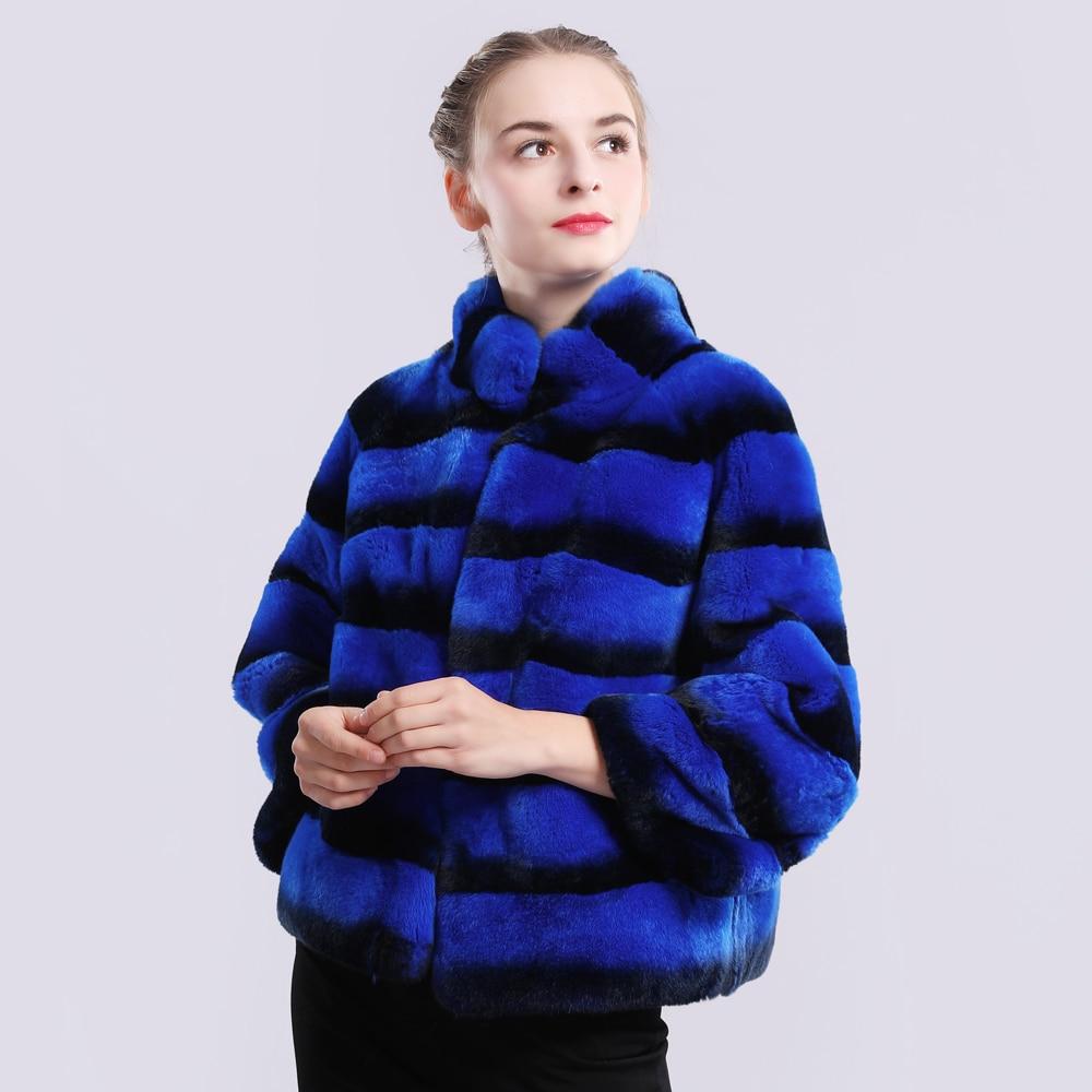 Marque Fourrure Grey Mode Lapin Qualité blue Nouveaux Pardessus red Hiver Naturel Supérieure De Manteau Rex Réel Veste Véritable 2019 Femmes vWq6nxFX8n