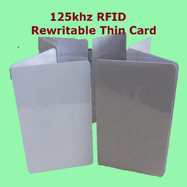 10pcs/Lot Proximity RFID 125khz Writable Rewritable T5577 5200 Smart Blank Thin ID Card + + Fast Delivery