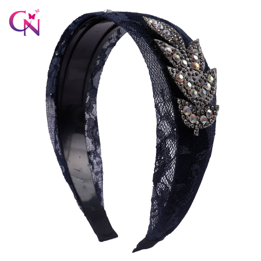 4f8893a69f2 Detail Feedback Questions about Women Crystal Rhinestone Headband Lace Wide  Hairband For Lady Bohemain Vintage Hair Hoop Hair Accessories Headwrap For  Girls ...