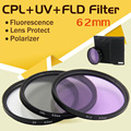 ASHANKS Фильтры Объектива Камеры 62 мм UV CPL FLD Фильтр Комплект Фотография Polfilter для Dslr Canon nikon Sony Pentax