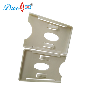 DWE CC RF rfid card plastic holder with 3 M back sticker for thin card