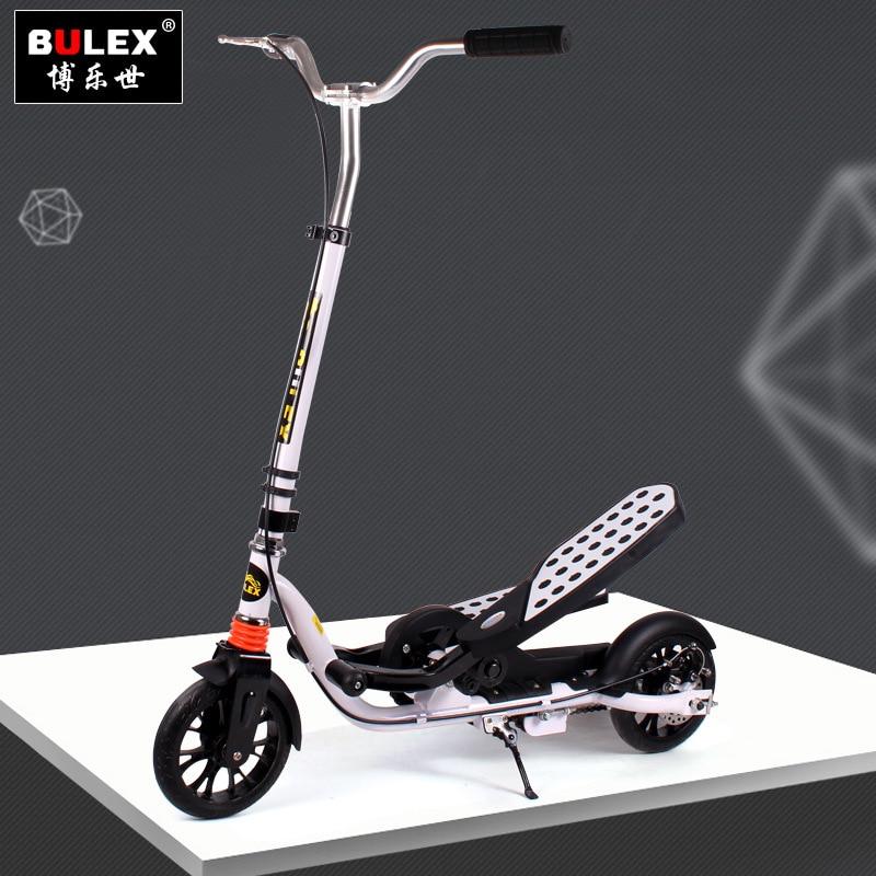 Doble pedales Scooter ejercicio mientras se divierte