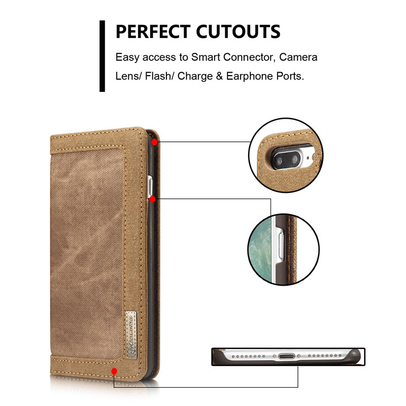 Για Apple iPhone 7 Κάλυμμα θήκης Magnetic Denim Canvas - Ανταλλακτικά και αξεσουάρ κινητών τηλεφώνων - Φωτογραφία 6