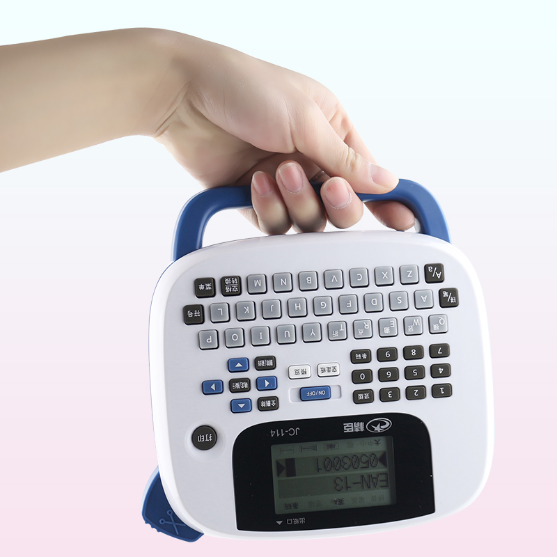 где купить 2016 new JC-114 handheld portable labeling machine home office notes barcode label printer built дешево