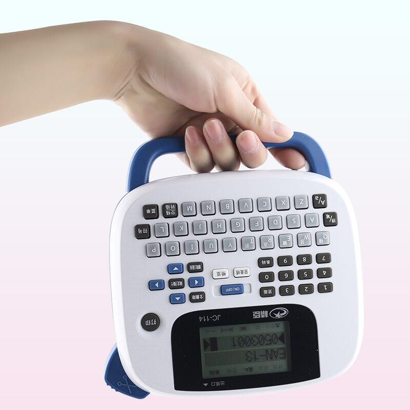 2016 nouveau JC-114 portatif tenu dans la main de machine à étiquettes de bureau à la maison notes étiquette de code à barres imprimante intégrée