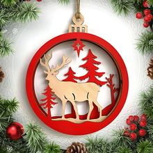 merry christmas decor wooden hollow ornament christmas tree hanging pendant decor xmas decoration outdoor christmas decorations - Wooden Outdoor Christmas Decorations