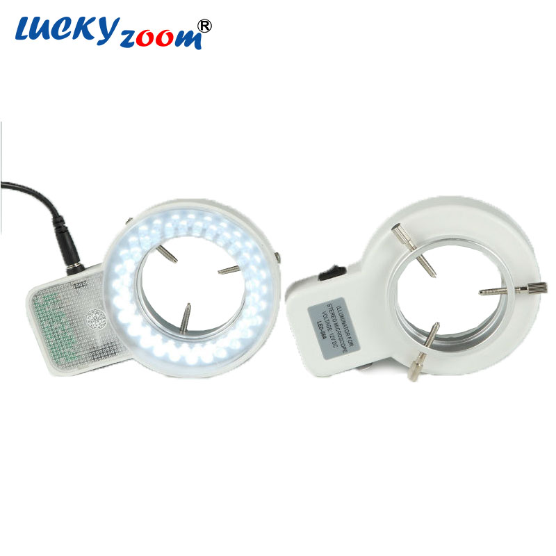New 56 LED Lamp Adjustable Round LED Ring Light White For Microscope Led Illumination Light Metal Ring Adaptor Free Shipping new portable handheld metal microscope loupe 60x with led light illumination free shipping